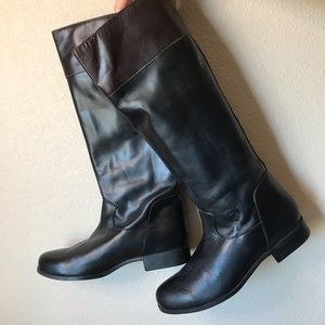 Ariat Tall Black Leather Riding Boots
